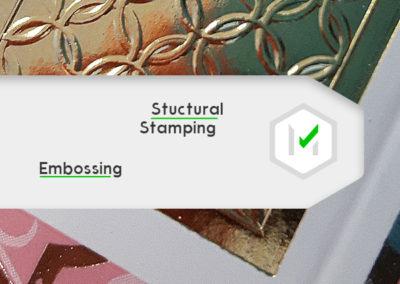 uszlachetnianie druku, złocenie strukturalne, tłoczenie